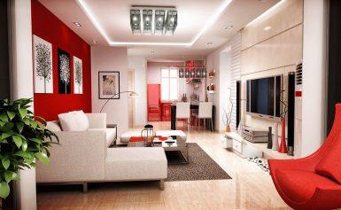 Гостиная в красном: стильный и страстный дизайн